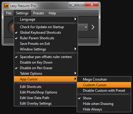 Lazy Nezumi Pro Settings